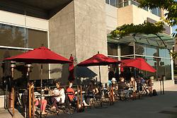 North America, United States, Washington, Bellevue, outdoor dining at Purple restaurant