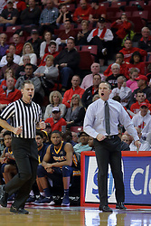 09 December 2017:  Matt McMahon gets passed by referee Gene Grimshaw during a College mens basketball game between the Murray State Racers and Illinois State Redbirds in  Redbird Arena, Normal IL