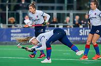 AMSTELVEEN -Yibbi Jansen (SCHC)  tijdens de competitie hoofdklasse hockeywedstrijd dames, Pinoke-SCHC (1-8) . COPYRIGHT KOEN SUYK