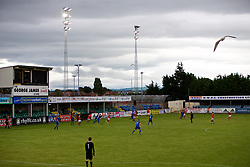 RHYL, WALES - Monday, September 4, 2017: A general view of the match during an Under-19 international friendly match between Wales and Iceland at Belle Vue. (Pic by Paul Greenwood/Propaganda)