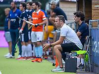 AMSTELVEEN -  coach Rick Mathijssen (Bldaal) en assistent-coach Stijn van Roosendaal (Bldaal)  tijdens de oefenwedstrijd tuusen de heren van Pinoke en Bloemendaal  (2-0) ter voorbereiding van het hoofdklasse hoceky seizoen 2020-2021.  COPYRIGHT KOEN SUYK