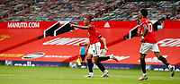 Football - 2019 / 2020 Premier League - Manchester United vs Southampton<br /> <br /> Anthony Martial of Manchester United celebrates with Bruno Fernandes at Old Trafford<br /> <br /> COLORSPORT/LYNNE CAMERON