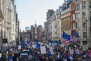 The People's Vote March For The Future on 20th October 2018 in London, United Kingdom. More than 100,000 people marched on Parliament to demand their democratic voice to be heard in a landmark demonstration billed as the most important protest of a generation. As the date of the UK's Brexit from the European Union, the protesters gathered in their tens of thousands to make political leaders take notice and to give the British public a vote on the final Brexit deal.