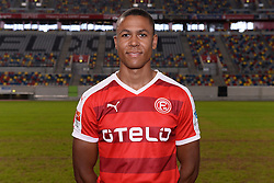 02.07.2015, Esprit Arena, Duesseldorf, GER, 2. FBL, Fortuna Duesseldorf, Fototermin, im Bild Mathis Bolly ( Fortuna Duesseldorf / Portrait ) // during the official Team and Portrait Photoshoot of German 2nd Bundesliga Club Fortuna Duesseldorf at the Esprit Arena in Duesseldorf, Germany on 2015/07/02. EXPA Pictures © 2015, PhotoCredit: EXPA/ Eibner-Pressefoto/ Thienel<br /> <br /> *****ATTENTION - OUT of GER*****