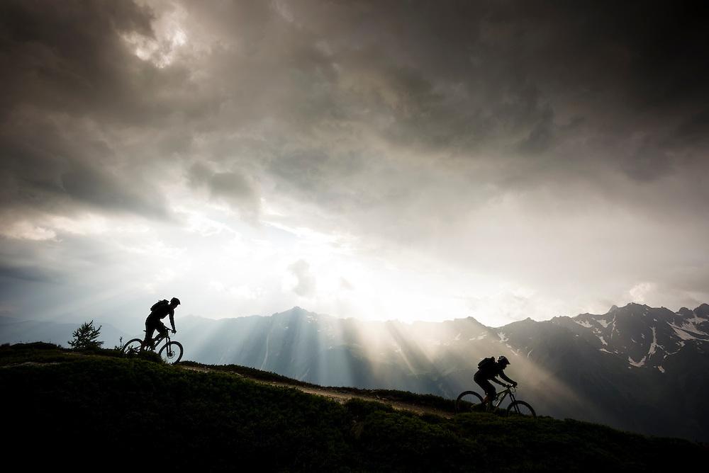 Storm dodging or sun-chasing, Chamonix, France.