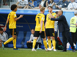 July 14, 2018 - Saint Petersbourg, Russie - SAINT PETERSBURG, RUSSIA - JULY 14 : Kevin De Bruyne forward of Belgium & Roberto Martinez head coach of Belgian Teamduring the FIFA 2018 World Cup Russia Play-off for third place match between Belgium and England at the Saint Petersburg Stadium on July 14, 2018 in Saint Petersburg, Russia, 14/07/18 (Credit Image: © Panoramic via ZUMA Press)