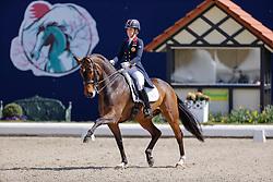 HAGEN a.T.W. - Horses and Dreams meets Japan Sports Edition 2021<br /> <br /> DUJARDIN Charlotte (GBR), Mount St John Freestyle<br /> CDI 4* Grand Prix<br /> Qualifikation für Grand Prix Special<br /> Preis des Gestütes Vorwerk<br /> <br /> Hagen a.T.W., Hof Kasselmann<br /> 23. April 2021<br /> © www.sportfotos-lafrentz.de/Stefan Lafrentz