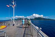Moorea to Tahiti Ferry, French Polynesia, South Pacific