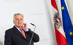 23.03.2015, Steigenberger Hotel, Krems, AUT, Bundesregierung, Pressekonferenz Regierungsklausur, im Bild Bundesminister für Arbeit, Soziales und Konsumentenschutz Rudolf Hundstorfer (SPÖ) // Minister of state for employment, social affairs and consumerism Rudolf Hundstorfer (SPOe) during convention of the austrian government at Steigenberger hotel in Krems, Austria on 2015/03/23, EXPA Pictures © 2015, PhotoCredit: EXPA/ Michael Gruber