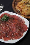 Beef carpaccio with ground pepper