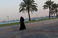 = sculpture of a pearl oyster onn The corniche  Doha  QATAR /// la corniche  Doha  QATAR +