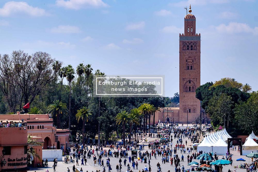 The Koutoubia Mosque or Kutubiyya Mosque in Marrakech, Morocco, North Africa<br /> <br /> (c) Andrew Wilson | Edinburgh Elite media