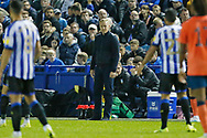Garry Monk Manager of Sheffield Wednesday during the EFL Cup match between Sheffield Wednesday and Everton at Hillsborough, Sheffield, England on 24 September 2019.