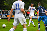 Leeds United Ryan Edmondson (14) takes a shot during the Pre-Season Friendly match between Tadcaster Albion and Leeds United at i2i Stadium, Tadcaster, United Kingdom on 17 July 2019.