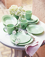 Catalog image was crafted specifically for Charles Keath. The light green china comes to life in this photo.