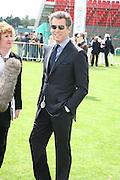 Pierce Brosnan, Cartier International Polo. Guards Polo Club. Windsor Great Park. 29 July 2007.  -DO NOT ARCHIVE-© Copyright Photograph by Dafydd Jones. 248 Clapham Rd. London SW9 0PZ. Tel 0207 820 0771. www.dafjones.com.