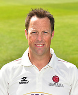 Head shot of Marcus Trescothick of Somerset during the 2019 media day at Somerset County Cricket Club at the Cooper Associates County Ground, Taunton, United Kingdom on 2 April 2019.