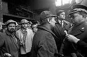 Spotkanie hutników z Huty im Lenina z gen. Jaruzelskim 1982 rok. Kraków