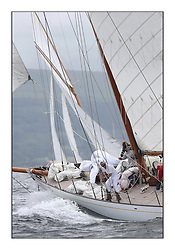 Day one of the Fife Regatta, Round Cumbraes Race.<br /> <br /> Latifa, 8, Mario Pirri, ITA, Bermudan Yawl, Wm Fife 3rd, 1936<br /> <br /> <br /> * The William Fife designed Yachts return to the birthplace of these historic yachts, the Scotland's pre-eminent yacht designer and builder for the 4th Fife Regatta on the Clyde 28th June–5th July 2013<br /> <br /> More information is available on the website: www.fiferegatta.com