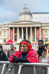 Visitors at Africa on the Square, an event celebrating  traditions and cultures of the African continent, in Trafalgar Square, London. Picture date: Saturday October 15, 2016. Photo credit should read: Matt Crossick/ EMPICS Entertainment.