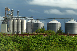Grain processing facility and grain elevator in central Illinois