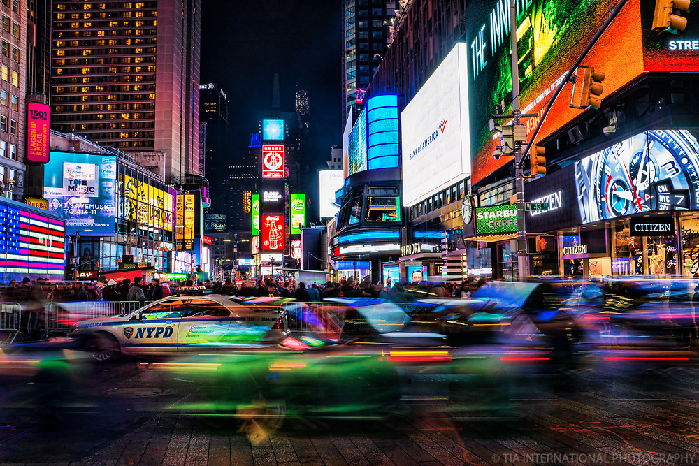Times Square Traffic, New York City