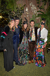 Left to right, Kim Hersov, Joseph Velosa, Lucy Yeomans, Matthew Williamson and Deborah Brett at The Animal Ball presented by Elephant Family held at Victoria House, Bloomsbury Square, London on 22nd November 2016.