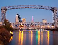 Cleveland, Ohio skyline from Cuyahoga River