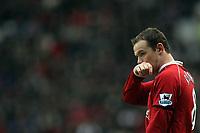 Photo: Paul Thomas.<br /> Manchester United v Charlton Athletic. The Barclays Premiership. 10/02/2007.<br /> <br /> Wayne Rooney of Man Utd.