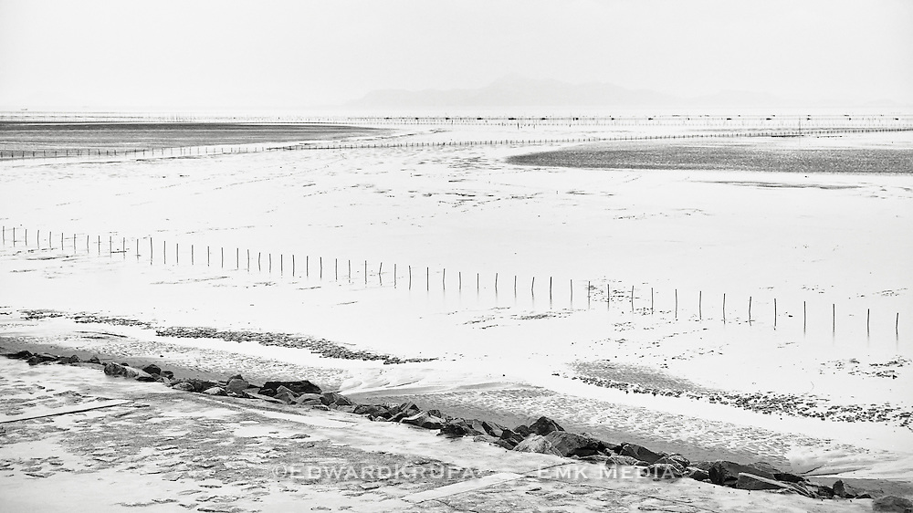 South China Sea at low tide from near Wenzou, China.