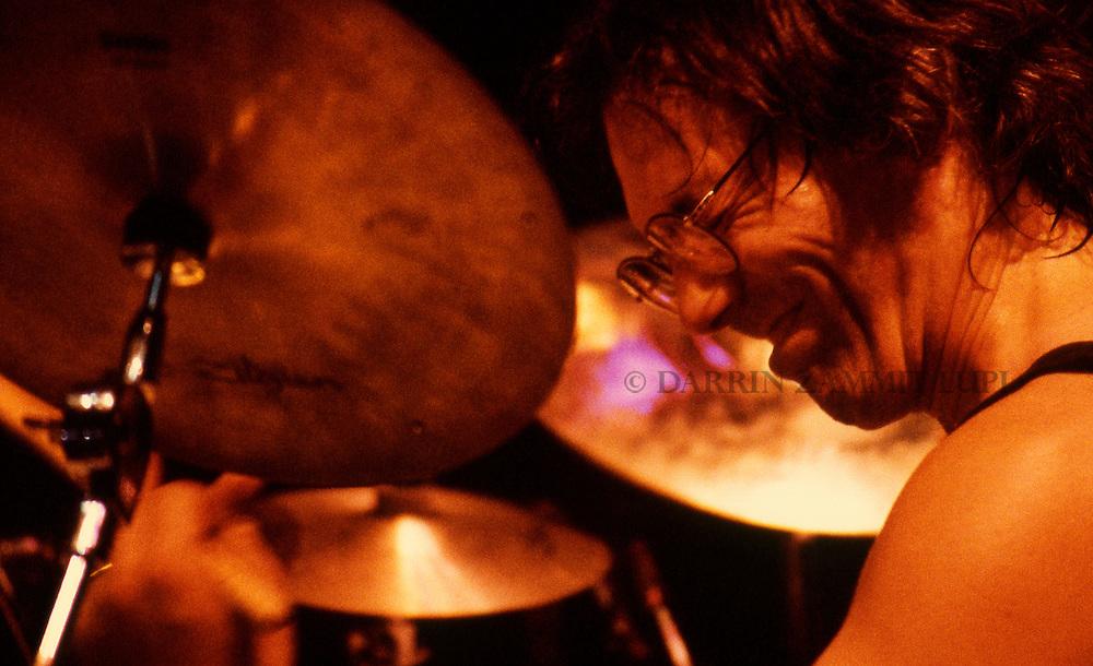 Vinnie Colaiuta (Johm Patitucci Band),1992<br /> Photo by Darrin Zammit Lupi