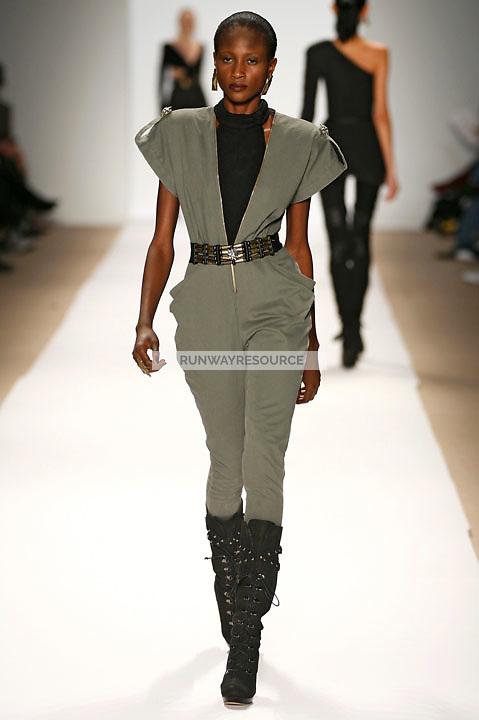 Aminata Niaria wearing the Charlotte Ronson Fall 2009 Collection
