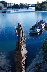 CZECH REPUBLIC BOHEMIA PRAGUE JUL97 - General view of the Vltava river flowing through Prague, seen from Charles Bridge.  . . jre/Photo by Jiri Rezac. . © Jiri Rezac 1997. . Tel:   +44 (0) 7050 110 417. Email: jiri@jirirezac.com. Web:   www.jirirezac.com