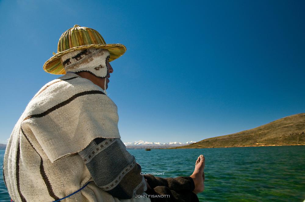 Sailing on Lake Titicaca
