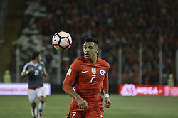 August 31, 2017 - Santiago, Santiago, Chile - Santiago Chile August 31, 2017. The Chilean Soccer Team Vs Paraguay faces a qualifying match for the 2014 World Cup Qualifiers. Chilean national team player Alexis Sanchez dominates the Balon during the match played at the National Stadium. Santiago Chile 31 August 2017. LUISVARGAS / ZUMAPRESS - (TAGS - SPORTS - FOOTBALL - FIFA CLASSIFICATION DATES - RUSSIA WORLD 2018 - CHILE VS PARAGUAY - SANTIAGO CHILE (Credit Image: © Luis Vargas via ZUMA Wire)