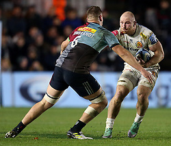 Exeter Matt Kvesic in action during the Gallagher Premiership at Twickenham Stoop, London.