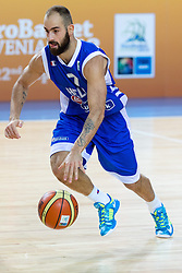 04.09.2013, Arena Bonifka, Koper, SLO, Eurobasket EM 2013, Schweden vs Griechenland, im Bild Vassilis Spanoulis #7 of Greece // during Eurobasket EM 2013 match between Sweden and Greece at Arena Bonifka in Koper, Slowenia on 2013/09/04. EXPA Pictures © 2013, PhotoCredit: EXPA/ Sportida/ Matic Klansek Velej<br /> <br /> ***** ATTENTION - OUT OF SLO *****
