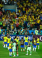 Brazil players greeting the supporters<br /> Moscow 27-06-2018 Football FIFA World Cup Russia  2018 <br /> Serbia - Brazil / Serbia - Brasile<br /> Foto Matteo Ciambelli/Insidefoto
