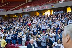 10 March 2015:  IHSA Class 1A Super Sectional at Redbird Arena.  Ridgeview Mustangs v Flanagan-Cornell-Woodlawn Falcons.