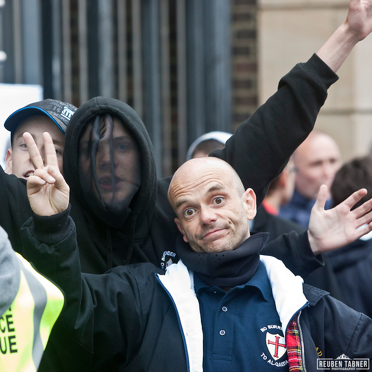 The English Defence League (EDL) gathered in their hundreds today in Newcastle City Centre.