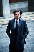 Actor and celebrity Gerard Butler arrives at The Nobel Peace Prize ceremony in Oslo.