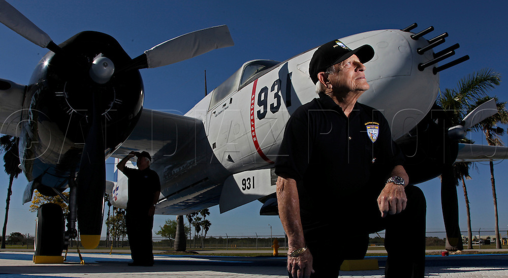 Salvador Miralles piloted a B-26 bomber during the Bay of Pigs invasion like the one seen here at Kendall-Tamiami Executive Airport. He is a member of the Bay of Pigs Veterans Association, Brigade 2506.