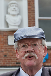 © Licensed to London News Pictures . 02/06/2014 . Newark , Nottinghamshire , UK . UKIP candidate ROGER HELMER in Market Square , Newark , today (Monday 2nd June 2014), ahead of the by-election due to take place on Thursday (5th June 2014) . Photo credit : Joel Goodman/LNP