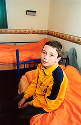 Albanian asylum seeker child at reception centre; Leeds; Yorkshire
