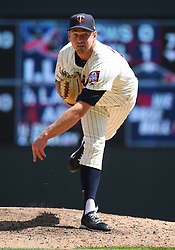 May 2, 2018 - Minneapolis, MN, U.S. - MINNEAPOLIS, MN - MAY 02: Minnesota Twins Pitcher Zach Duke (32) delivers a pitch during a MLB game between the Minnesota Twins and Toronto Blue Jays on May 2, 2018 at Target Field in Minneapolis, MN.The Twins defeated the Blue Jays 4-0.(Photo by Nick Wosika/Icon Sportswire) (Credit Image: © Nick Wosika/Icon SMI via ZUMA Press)