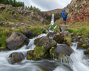Fiskilaekjarfoss is in Eyjafjordur near Akureyri.