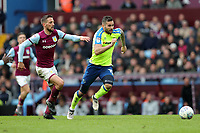 Aston Villa v Derby County - Sky Bet Championship<br /> BIRMINGHAM, ENGLAND - APRIL 28 :  Conor Hourihane, of Aston Villa, tries to get to Derby County's Bradley Johnson