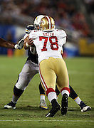 San Francisco 49ers defensive tackle Garrison Smith (78) rushes during the 2016 NFL preseason football game against the San Diego Chargers on Thursday, Sept. 1, 2016 in San Diego. The 49ers won the game 31-21. (©Paul Anthony Spinelli)