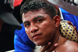 POMONA,CA - APR 28: Junior flyweight Roman Chocolatito Gonzalez gets taken care of in his corner during the  successful defense of  his WBA world title belt with a fourth round technical knockout over Ramon Garcia at the Fairplex in Pomona, CA. All fees must be ageed prior to publication,.Byline and/or web usage link must  read Eduardo E. Silva/SILVEX.PHOTOSHELTER.COM