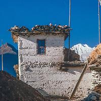 A house in the Kali Gandaki Valley, Nepal.